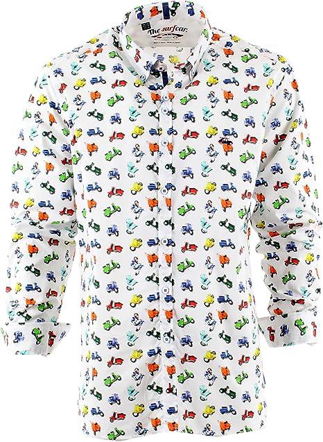 The SurfCar - Camisa casual - para hombre estampado XXXXL ...