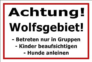 Melis Folienwerkstatt Schild Kr/öten-Wanderung 3mm Aluverbund 20 VAR S00359-101-E 15x10cm Bohrl/öcher