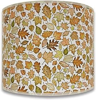 Royal Designs Modern Trendy Decorative Handmade Lamp Shade - Made in USA - Autumn Leaves Design - 10 x 10 x 8