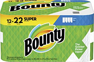 Bounty Select-A-Size Paper Towels, White, Super Rolls, 12 Count of 101 Sheets Per Roll