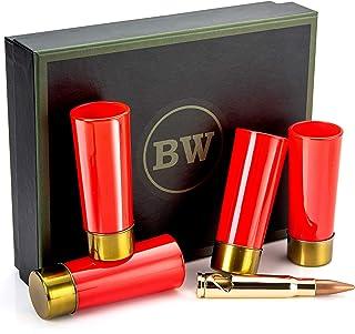 BarrelWare Premium Glass | Bullet Shot Glass, Bullet Glass, Groomsmen Gifts, Groomsmen Shot Glasses | Shot Glass Set, Shot...