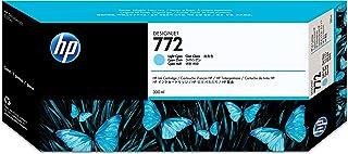 خرطوشة الحبر HP 772 سماوية فاتحة لطابعات Designjet سعة 300 مل [ CN632A ]