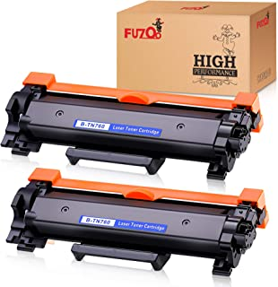 FUZOO Compatible Toner Cartridge Replacement for TN760 TN-760 TN730 with Chip Use with Brother HL-L2350DW HL-L2390DW HL-L2395DW MFC-L2710DW HL-L2370DW MFC-L2750DW DCP-L2550DW Printer (2 Black)