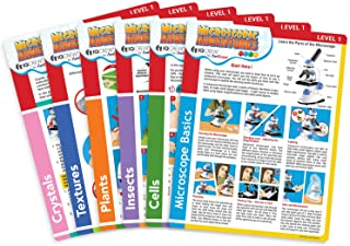 "IQCrew by AmScope Microscope Experiment & Activity Cards for Kids & Students -""Microscopic Adventures"" (Set of 6 Experiment Cards)"