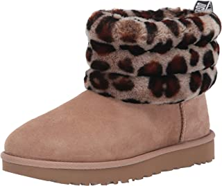 Women's Fluff Mini Quilted Leopard Fashion Boot