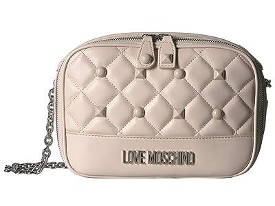 LOVE Moschino Quilted Crossbody (Avorio) Handbags