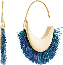 Rebecca Minkoff - Thread Fringe Small Hoop Earrings