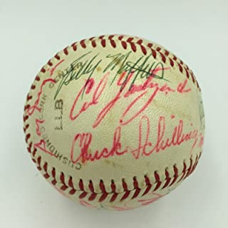 Carl Yastrzemski Rookie 1961 Boston Red Sox Team Signed Baseball With JSA COA