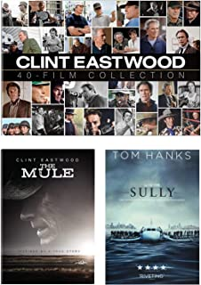 The Big Box With Bonus Extra Clint: Clint Eastwood Film Collection BIG BOX + The Mule + Sully Separate DVDs 40 Movie 2 Doc...