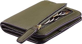 Toughergun Womens RFID Blocking Small Compact Bifold Luxury Genuine Leather Pocket Wallet Ladies Mini Purse with ID Window