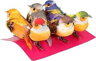 Artemio 13001005 Lot de 6 Oiseaux Multicolores sur Pince, 5 cm x 6 cm x 2,5 cm