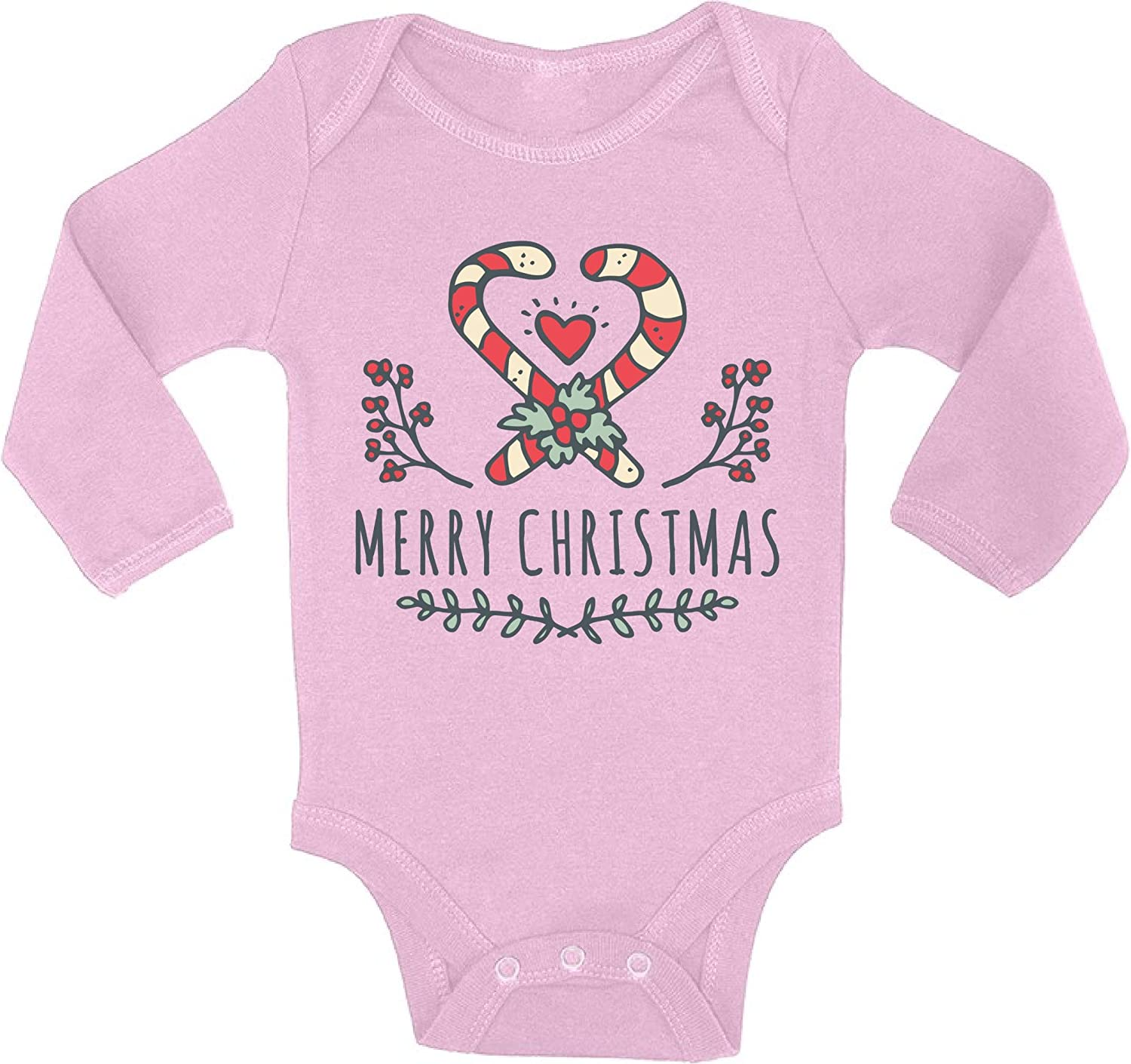 Awkward Styles Ugly Christmas Baby Outfit Bodysuit Xmas Candy Baby Romper