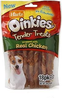 Hartz Oinkies Natural Pig Skin Twist Dog Treat Chews