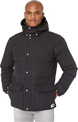 YUNY Men Mid-Long Windproof Plus Size Juniors Hooded Down Coat Black M