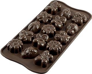SCG24 Molde de Silicona para chocolatines springlife, Color marrón