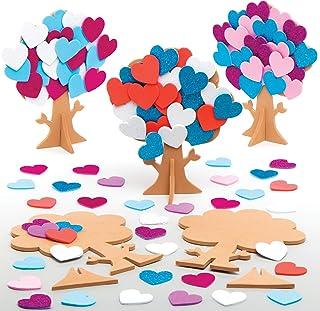 Baker Ross Kits d'arbres à cœurs (Paquet de 5) - Loisirs créatifs de la Saint-Valentin pour enfants et adultes AT664