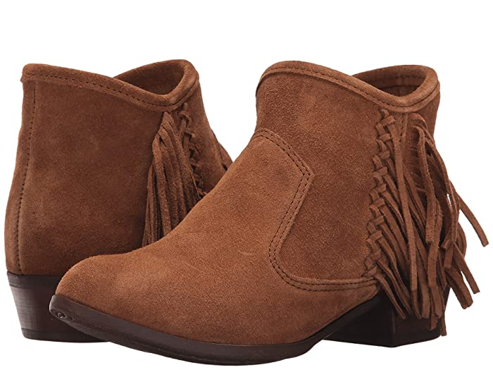 Vintage Boots, Granny Boots, Retro Boots Minnetonka Blake Boot Dusty Brown Suede Womens Pull-on Boots $79.95 AT vintagedancer.com