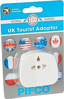 Pifco UK Visitor Mains Adaptor - USA / Australia / EU / China to UK in White