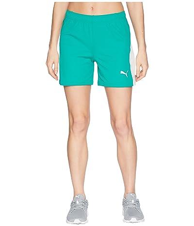 PUMA Liga Shorts (Pepper Green/Puma White) Women