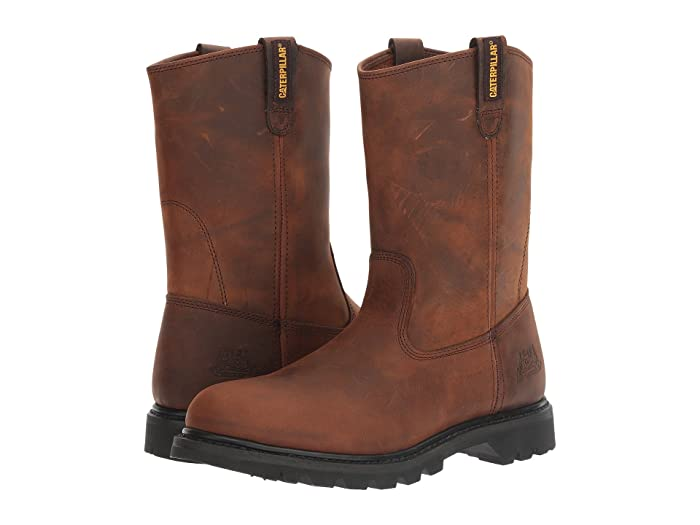 Caterpillar  Revolver (Brown Pull Up Leather) Mens Work Pull-on Boots