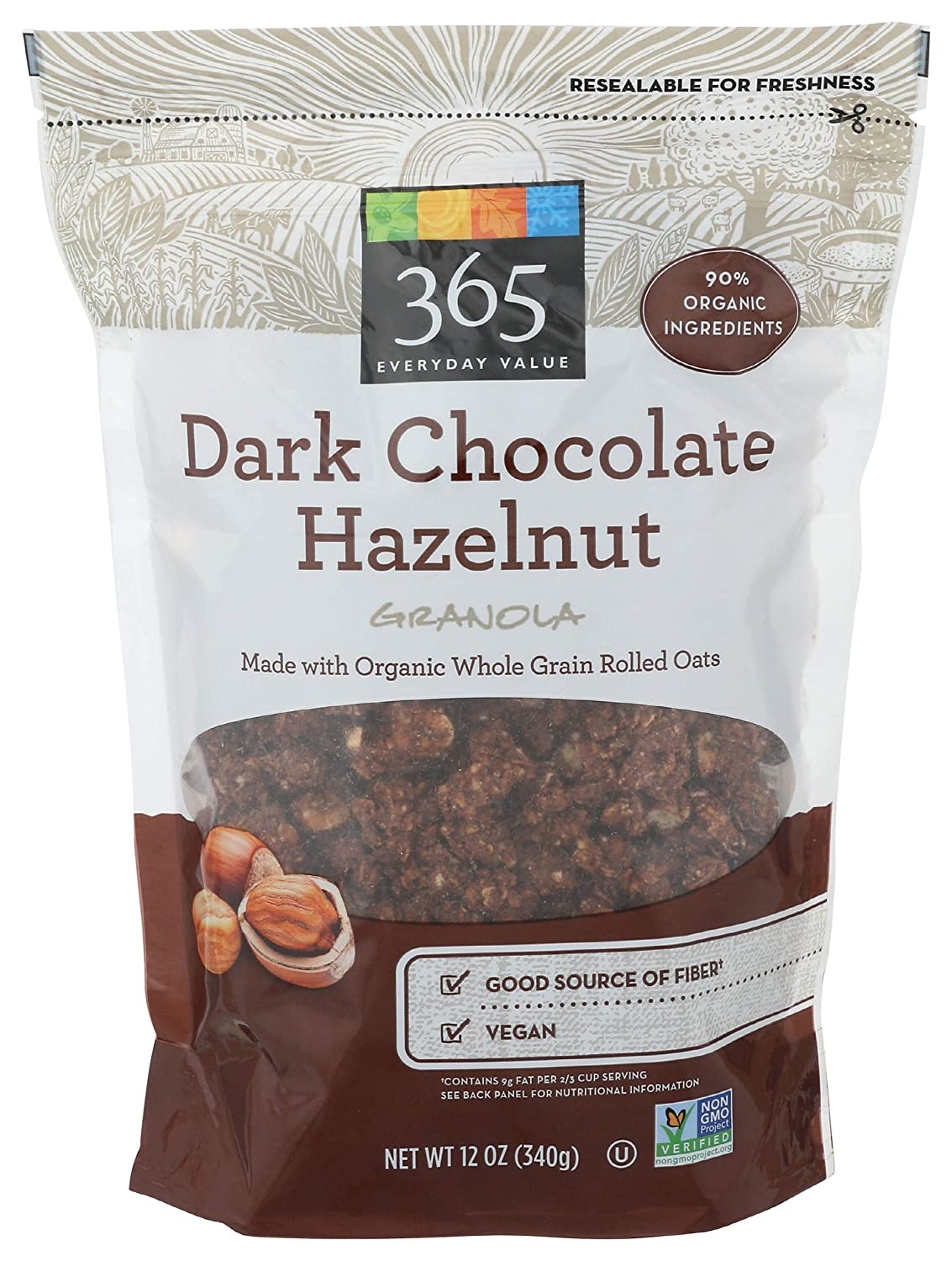 365 Sales results No. 1 by WFM Granola Dark Max 61% OFF Chocoate 12 And Hazelnut Ounce Bag