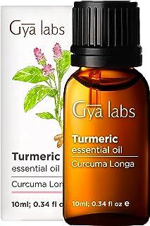 Gya Labs eterisk olja för gurkmeja - smärtstillande medel för ont i kroppen och felfri hud -10 ml - 100% ren naturlig tera...