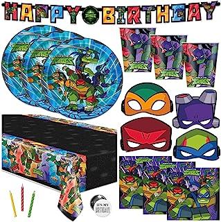 Ninja Turtle Birthday Party Supplies, Teenage Mutant Ninja Turtle Party Supplies for TMNT Party, Serves 16 Guests, For Boy...