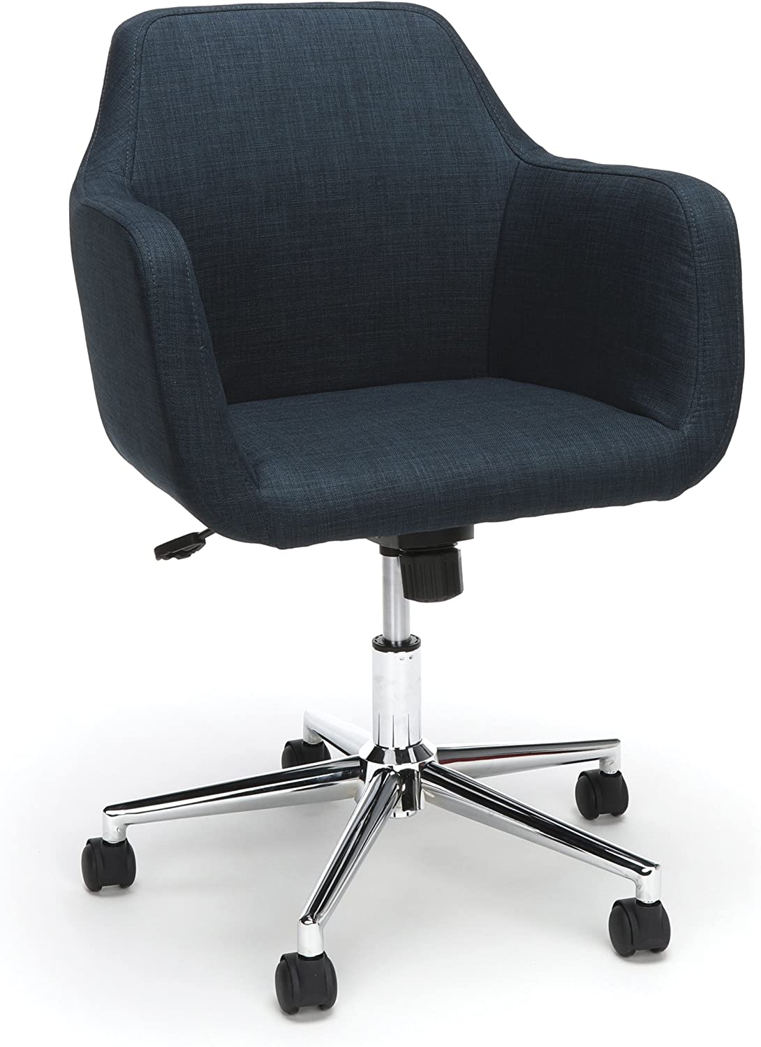 Essentials Upholstered Home Office Chair - Ergonomic Desk Chair with Arms for Conference Room Or Office, bluee (ESS-2085-blue)