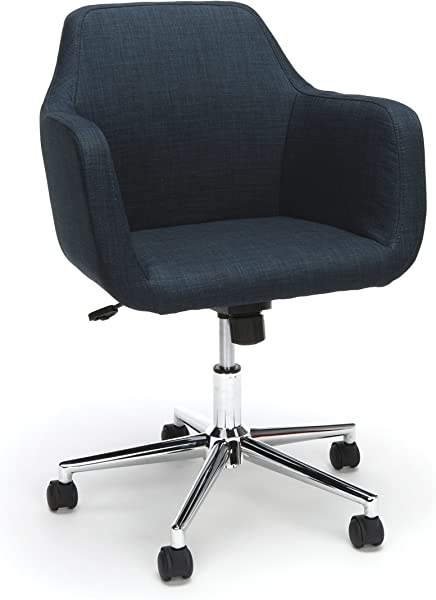 Essentials Upholstered Home Office Chair Ergonomic Desk Chair With Arms For Conference Room Or Office Blue ESS 2085 BLU