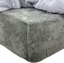 Brentfords Teddy Fleece Fitted Sheet Thermal Warm Soft Luxury Cosy Bedding, 100% Polyester, Bear Sherpa, Charcoal Grey, King