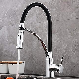 comprar comparacion GAVAER Grifo Cocina, Silicona de Grado Alimenticio 360° Rotación Grifo Mezclador con 2 Modos Extraíble Rociador, Grifo Mez...