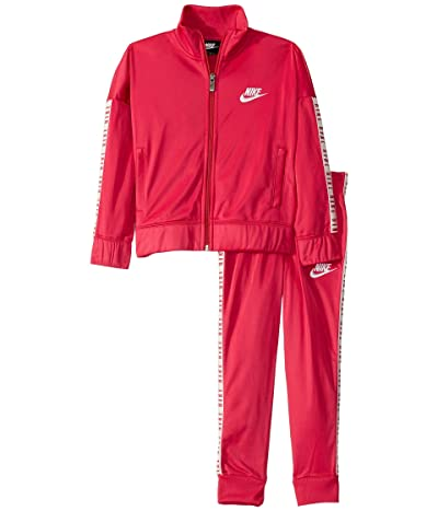 Nike Kids Tricot Full Zip Jacket and Jogger Pants Two-Piece Track Set (Little Kids) (Rush Pink) Girl