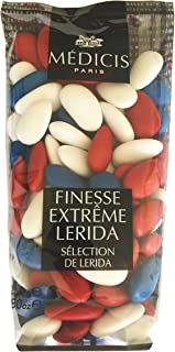 Medicis Multicolor (Blue, White, Red) French Almond Dragees (French Jordan Almonds) 80pc 250g (8.8oz)