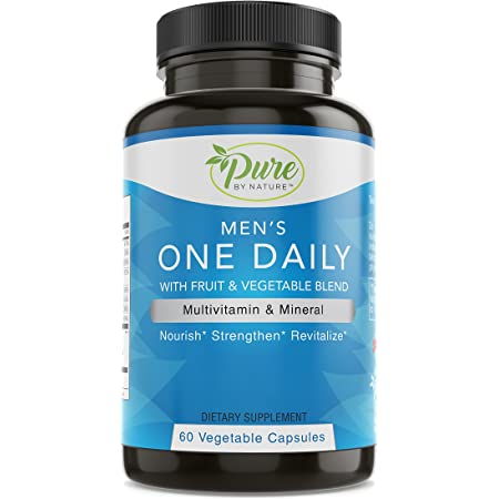 Pure By Nature One-Daily Multi-Vitamin for Men, 60 Count