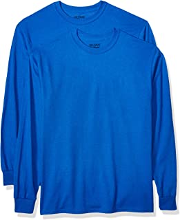 Gildan Men's DryBlend Adult Long Sleeve T-Shirt, 2-Pack
