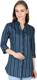 SHAURYA-F Shirt Collar Styled Pure Cotton Straight Slim Fit Shirt Green