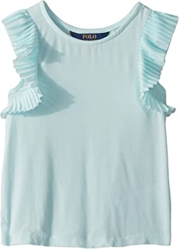 Polo Ralph Lauren Kids Flutter-Sleeve Jersey Top (Little Kids)