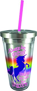 Spoontiques 20529 Unicorn Stainless Steel Cup Straw, Multicolor