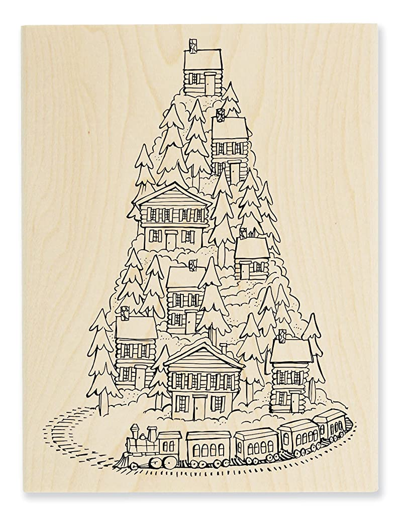 STAMPENDOUS Rubber Stamp, Hill Top Train ?