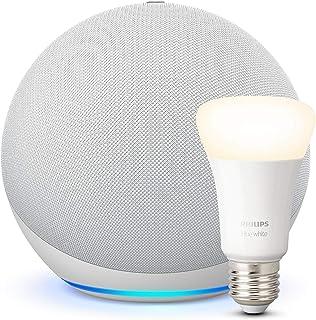 Nuovo Echo (4ª generazione), Bianco ghiaccio + Philips Hue White Lampadina