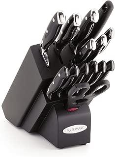 Farberware 15-Piece Forged Triple Rivet Knife Block Set, Black