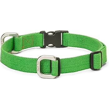 WEST PAW Strolls Dog Collar with Hemp, Large, Greenery, Made in USA
