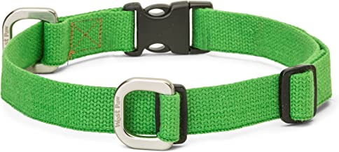 product image for West Paw Strolls Dog Collar with Hemp, Large, Greenery, Made in USA
