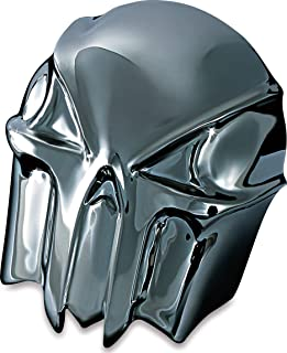 Krator Black Skull Head Horn Cover Stock Cowbell Horns Compatible with 1996-1999 Harley Davidson Motorcycles
