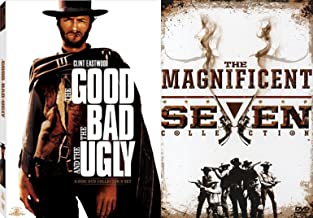 Outlaws of Wild West Movie Pack DVD Good The Bad and Ugly Collectors Edition + The Magnificent Seven Collection Return/Ride (5 DVD Set) 4Feature Film DVD Bundle