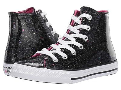 Converse Kids Chuck Taylor All-Star Galaxy Glimmer Hi (Little Kid/Big Kid) (Black/Mod Pink/White) Girls Shoes