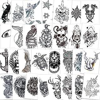 Qpout 30 Blatt Arm Temporäre Tattoos für Männer Frauen, S