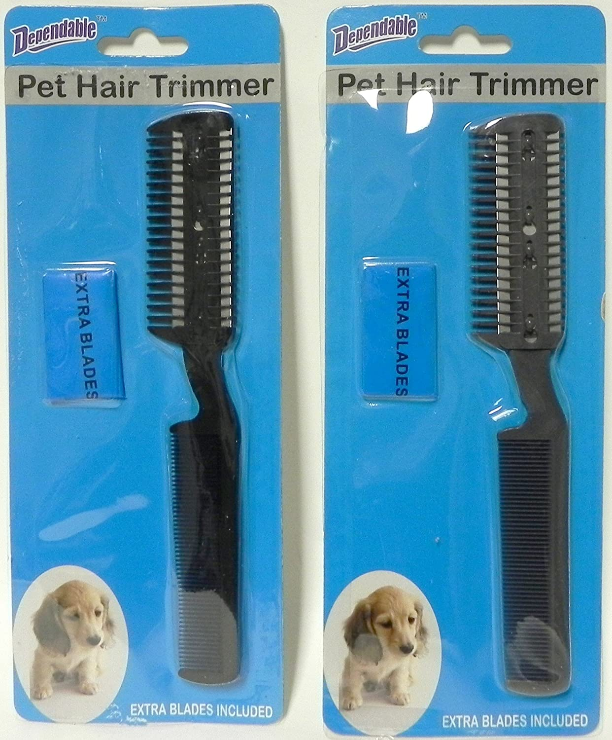 Discount Translated mail order Dependable 2 Pack Manual Pet Hair Trimmer Blades and Extra with