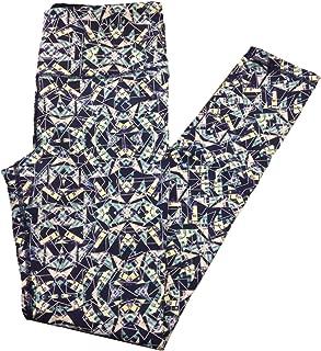 VSX Knockout Tight Yoga Pants X-Small Navy Geo Glow in Dark