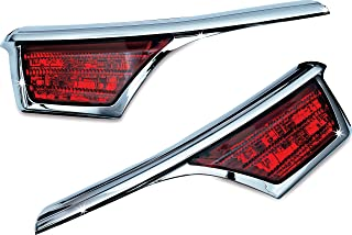 Kuryakyn 3240 Motorcycle Lighting Accessory: LED Passenger Armrest Trim with Turn Signal/Blinker Light Accents for 2006-17 Honda Gold Wing GL1800 Motorcycles, Chrome, 1 Pair